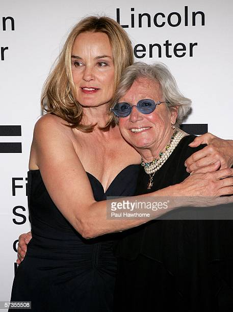 Actresses Jessica Lange and Ann Roth attend The Film Society of Lincoln Center honors Jessica Lange at Avery Fisher Hall April 17 2006 in New York...