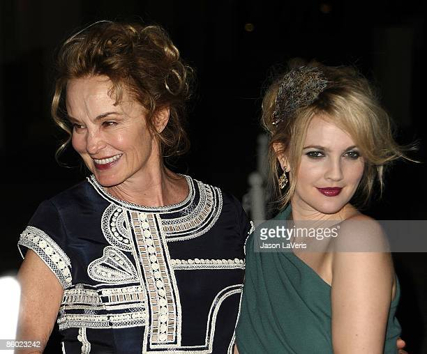 Actresses Jessica Lange and Drew Barrymore attend Inside Grey Gardens at the Academy of Television Arts Sciences on April 17 2009 in North Hollywood...