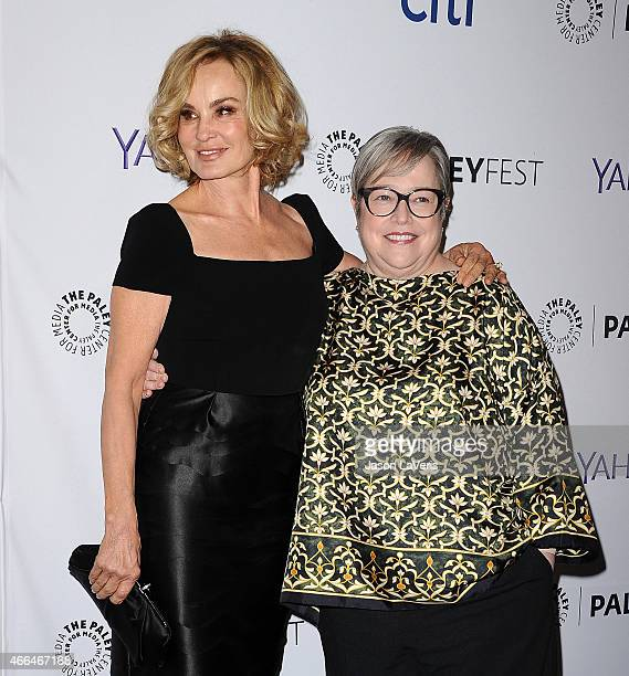 Actresses Jessica Lange and Kathy Bates attend the American Horror Story Freak Show event at the 32nd annual PaleyFest at Dolby Theatre on March 15...