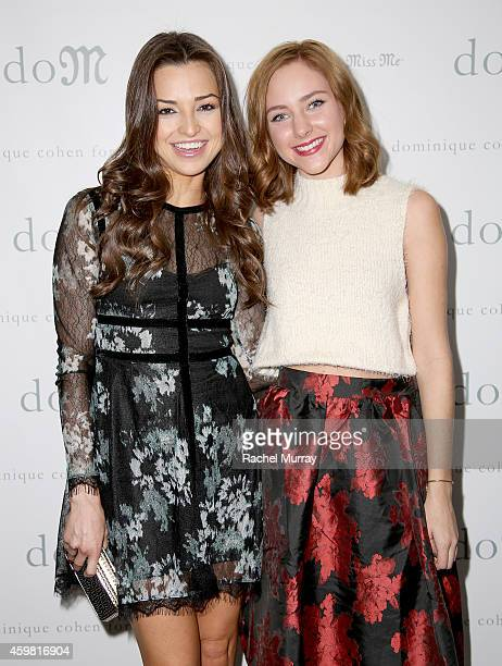 Actresses Jessica Meraz and Haley Ramm attend Miss Me and Lucky Magazine celebrate 'Dominique Cohen For Miss Me' Holiday Capsule Collection Launch on...