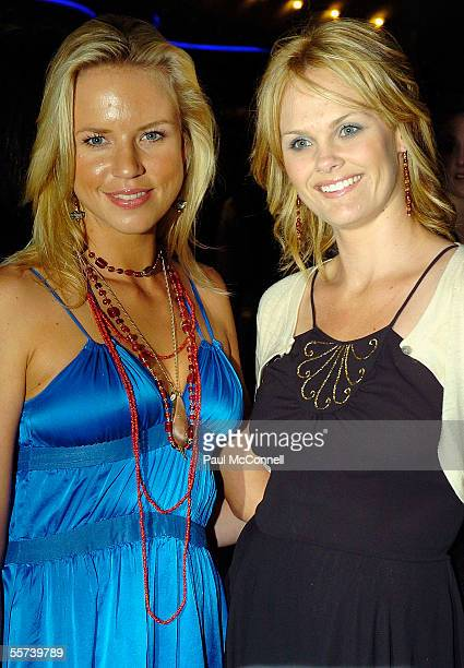 Actresses Jessica Napier and Clare Charlesly attend the opening night of Fiddler on the Roof at The Capitol Theatre on September 22 2005 in Sydney...