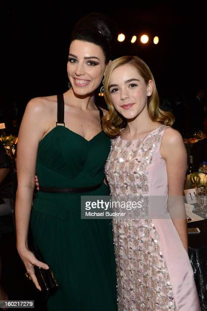 Actresses Jessica Pare and Kiernan Shipka attends the 19th Annual Screen Actors Guild Awards at The Shrine Auditorium on January 27 2013 in Los...