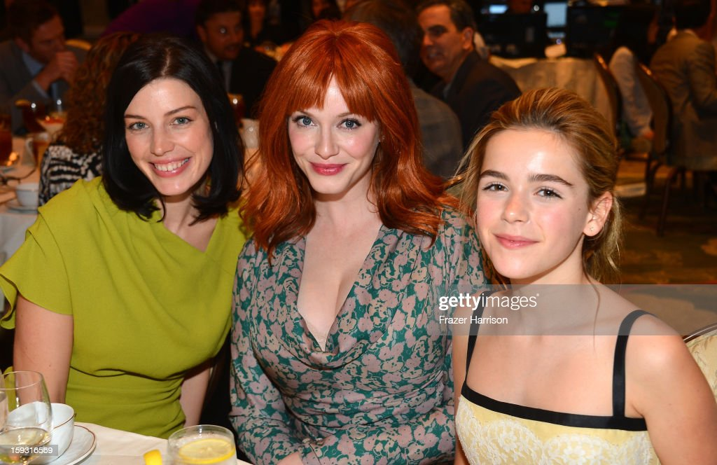 Actresses Jessica Pare, Christina Hendricks and Kiernan Shipka attend the 13th Annual AFI Awards at Four Seasons Los Angeles at Beverly Hills on January 11, 2013 in Beverly Hills, California.