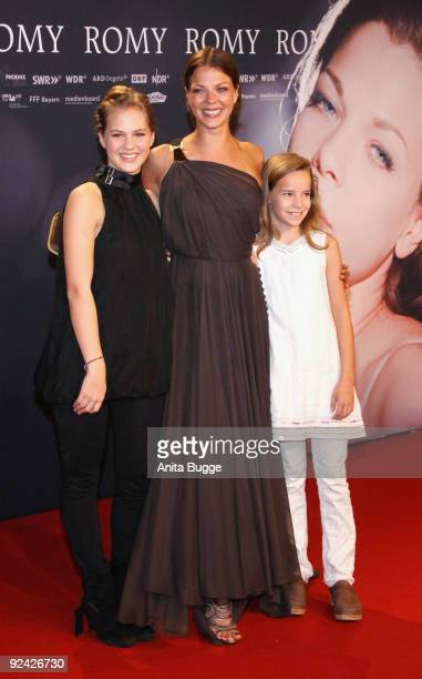 Actresses Jessica Schwarz Alicia von Rittberg and Stella Kunkat attend the premiere of 'Romy' at the Delphi cinema on October 27 2009 in Berlin...