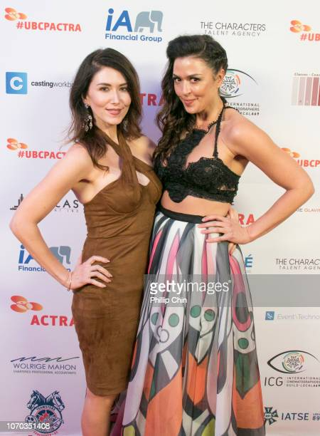 Actresses Jewel Staite and Aliyah O'Brien pose at the 7th annual UBCP/ACTRA Awards Gala red carpet at the Vancouver Playhouse on December 8 2018 in...