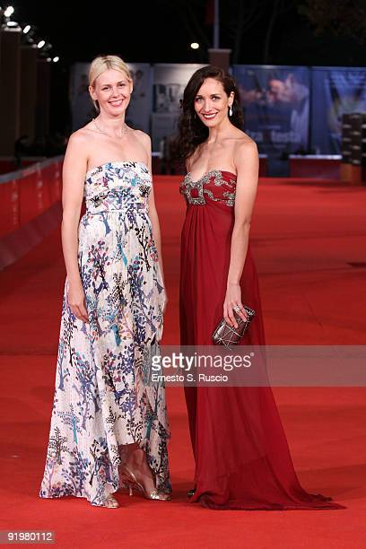 Actresses Jicky Schnee and Ana Asensio attend 'The Afterlight' Premiere during day 4 of the 4th Rome International Film Festival held at the...