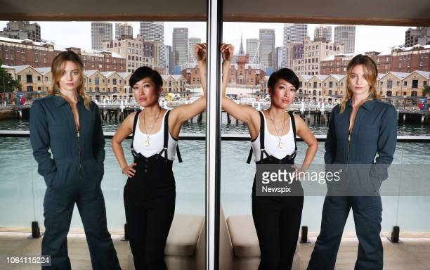 SYDNEY NSW Actresses Jihae and Leila George D'Onofrio pose during a photo shoot at the Park Hyatt in Sydney New South Wales