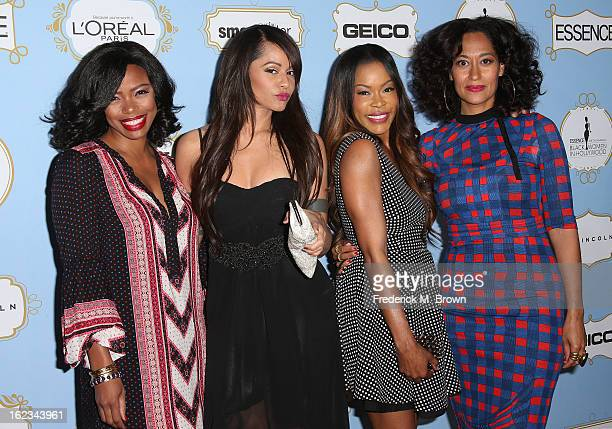 Actresses Jill Marie Jones Persia White Golden Brooks and Tracee Ellis Ross attend the Sixth Annual ESSENCE Black Women In Hollywood Awards Luncheon...
