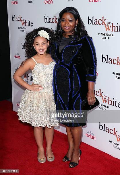 Actresses Jillian Estell and Octavia Spencer attend the premiere of Relativity Media's Black or White at Regal Cinemas LA Live on January 20 2015 in...