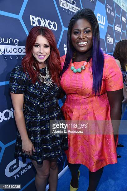 Actresses Jillian Rose Reed and Danielle Brooks attend the 2014 Young Hollywood Awards brought to you by Samsung Galaxy at The Wiltern on July 27...