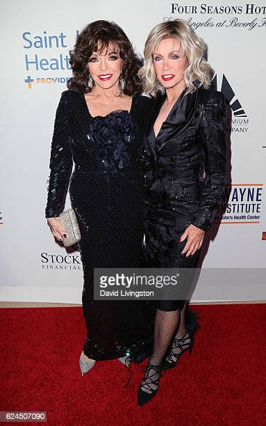 Actresses Joan Collins and Donna Mills attend the Talk of the Town Gala 2016 at The Beverly Hilton Hotel on November 19 2016 in Beverly Hills...