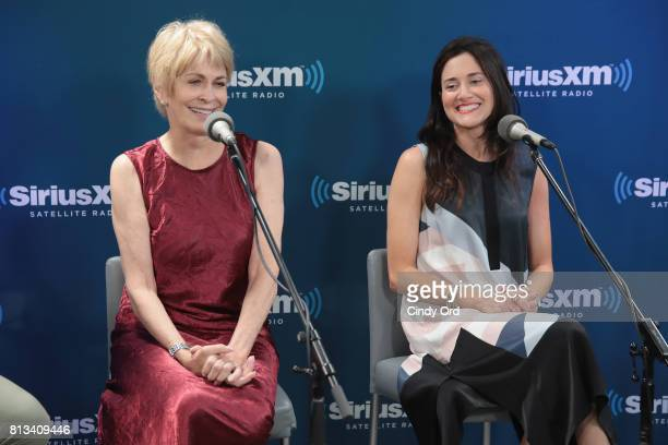 Actresses Joanna Cassidy and KK Glick participate in SiriusXM's Town Hall with Bravo's Odd Mom Out cast hosted by creator and star Jill Kargman on...