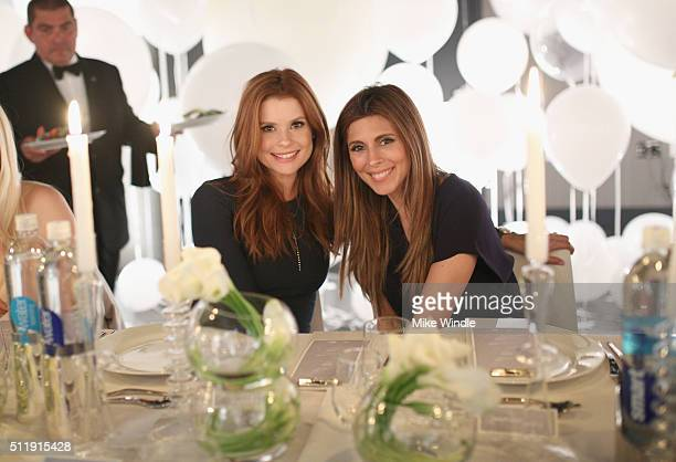 Actresses JoAnna Garcia and JamieLynn Sigler attend smartwater sparkling celebrates Jennifer Aniston and St Jude's Children's Hospital at W Hollywood...