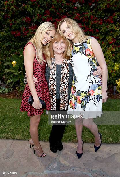 Actresses Joanne Froggatt Lesley Nicol and Laura Carmichael attend an afternoon tea at The British Consulate celebrating 'Wolf Hall' Airing On...