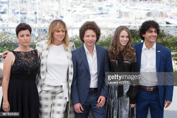 Actresses Joanne Larequi Emma Suarez Michel Franco Ana Valeria Becerril and Enrique Arrizon attend the 'April's Daughter' photocall during the 70th...
