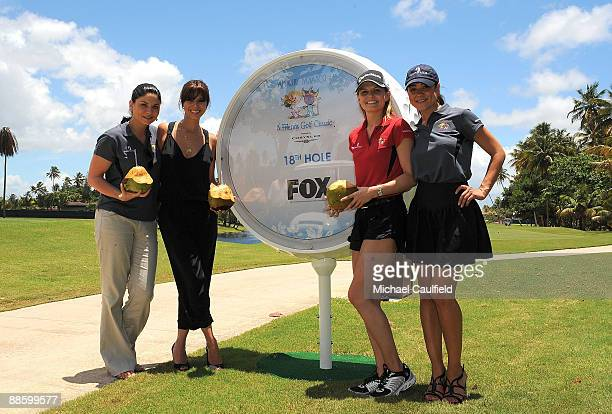 Actresses Jodi Lyn O'Keefe Roselyn Sanchez Jennifer Morrison and Camille Guaty attend the Amaury Nolasco Friends Golf Classic at Bahia Beach on June...