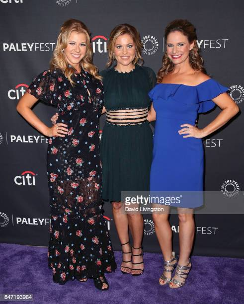 Actresses Jodie Sweetin Candace Cameron Bure and Andrea Barber attend The Paley Center for Media's 11th Annual PaleyFest fall TV previews Los Angeles...
