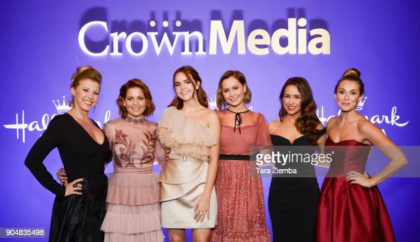 Actresses Jodie Sweetin, Candace Cameron Bure, Bailee Madison, Natasha Bure, Lacey Chabert and Alexa PenaVega attend Hallmark Channel and Hallmark...