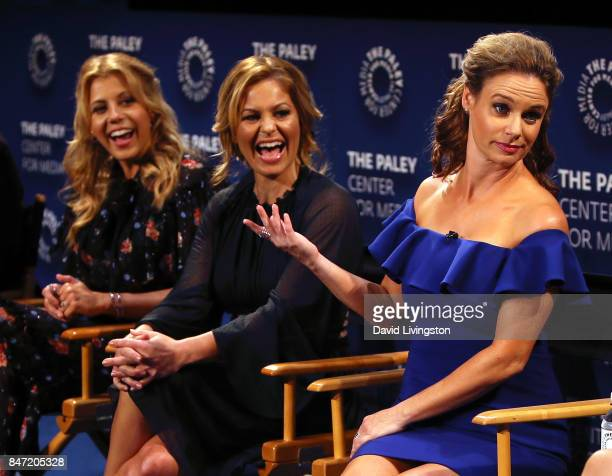 Actresses Jodie Sweetin, Candace Cameron-Bure and Andrea Barber attend The Paley Center for Media's 11th Annual PaleyFest fall TV previews Los...
