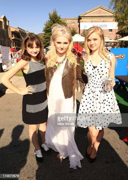 Actresses Joey King Abigail Breslin and Sierra McCormick attend Variety's Power Of Youth Presented by Hasbro Inc and generationOn at Universal...