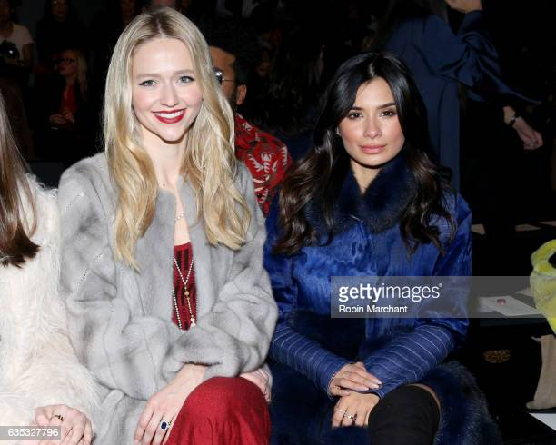 Actresses Johanna Braddy and Diane Guerrero attend the Dennis Basso collection during New York Fashion Week The Shows at Gallery 1 Skylight Clarkson...