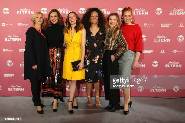 Actresses Johanna Gastdorf, Nadja Becker, Lavinia Wilson, Rebecca Lina, Maike Juettendonk and Henny Reents attend the premiere of TNT Comedy Original...