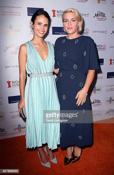 Actresses Jordana Brewster and Busy Philipps attend the Share Our Strength's No Kid Hungry Campaign fundraising dinner at Ron Burkle's Green Acres...