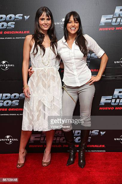 Actresses Jordana Brewster and Michelle Rodriguez attends the Fast Furious photo call at the Marriot Hotel on March 27 2009 in Mexico City