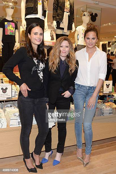 Actresses Jordana Brewster Natasha Lyonne and model Chrissy Teigen attends UNIQLO's arrival in Los Angeles at The Beverly Center on October 9 2014 in...