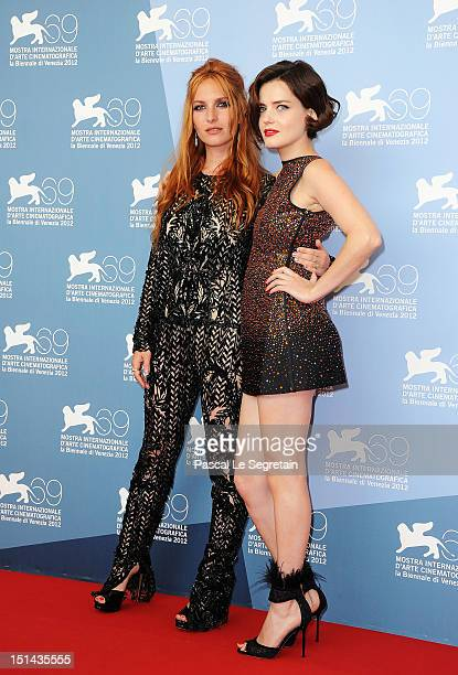 Actresses Josephine de La Baume and Roxane Mesquida attend the Kiss of the Damned Photocall during the 69th Venice Film Festival at the Palazzo del...