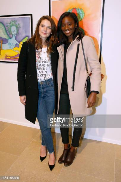 Actresses Josephine Japy and Karidja Toure attend the 'pascALEjandro L'Androgyne Alchimique' Exhibition Opening at Azzedine Alaia Gallery on April 27...