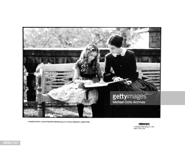 Actresses Josephine Serre and Charlotte Gainsbourg in a scene from the movie 'Jane Eyre' circa 1996