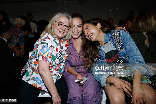 Actresses Josiane Balasko her daughter Marilou Berry and Izia Higelin attend the Jean Paul Gaultier Haute Couture Fall/Winter 20162017 show as part...