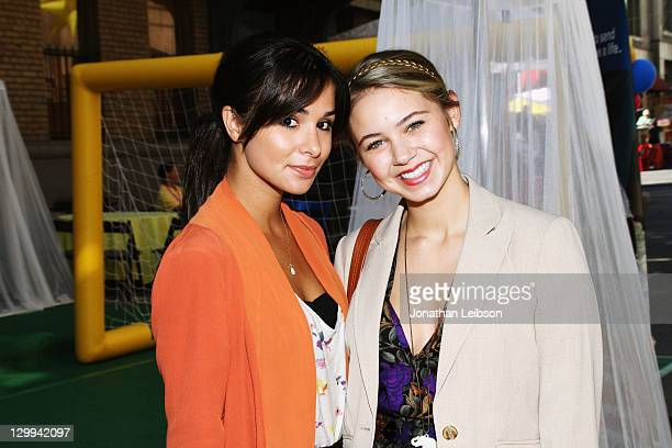Actresses Josie Loren and Ayla Kell attend Variety's 5th annual Power Of Youth event presented by The Hub at Paramount Studios on October 22 2011 in...