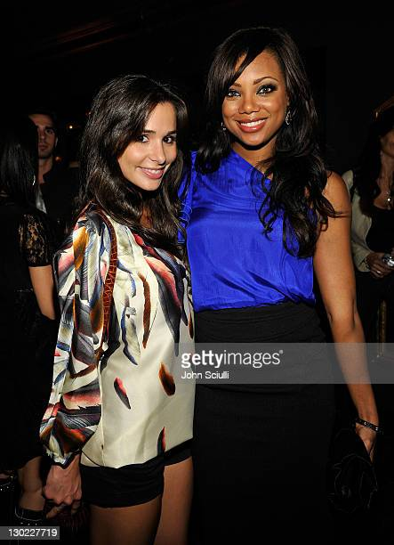 Actresses Josie Loren and Tiffany Hines attend AllSaints And Not For Sale Hollywood Launch at the Music Box Theatre on October 24 2011 in Hollywood...
