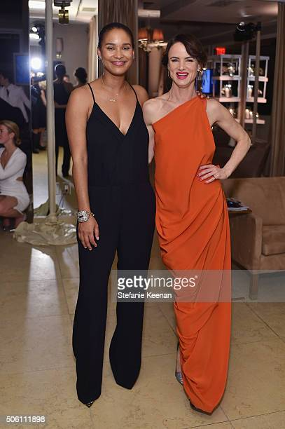 Actresses Joy Bryant and Juliette Lewis attend ELLE's 6th Annual Women in Television Dinner Presented by Hearts on Fire Diamonds and Olay at Sunset...