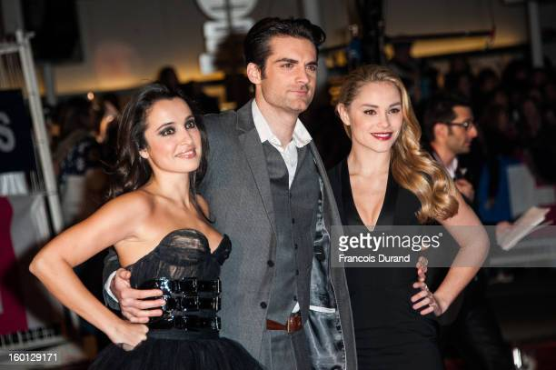 Actresses Joy Esther Isabelle Vitari and actor Gil Alma attend the NRJ Music Awards 2013 at Palais des Festivals on January 26 2013 in Cannes France
