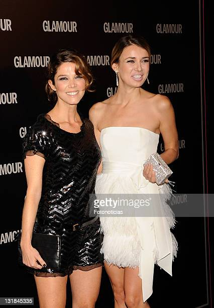 Actresses Juana Acosta and Natasha Yarovenko attend Glamour 2011 Beauty Awards at Pacha on May 19 2011 in Madrid Spain
