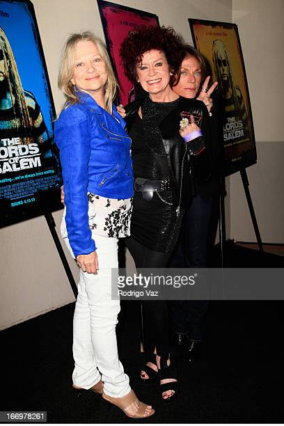 Actresses Judy Geeson Patricia Quinn and Meg Foster arrive at Rob Zombie's The Lords Of Salem Los Angeles Premiere at AMC Burbank 16 on April 18 2013...