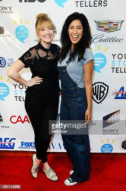Actresses Judy Greer and Stephanie Beatriz arrive at The Young Storytellers' 12th Annual 'Biggest Show' hosted by The Sklar Brothers at Moss Theatre...