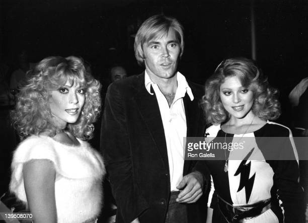 Actresses Judy Landers and Audrey Landers and actor Jeff Conway attend Second Annual Awards Magazine Party on March 16 1981 at Rapisardi Restaurant...