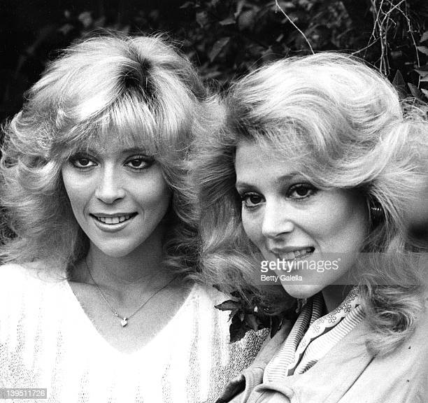 Actresses Judy Landers and Audrey Landers attend 100th Show Party for 'Entertainment Tonight' on January 10 1982 at Su Ling Restaurant in Beverly...