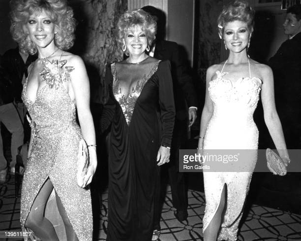Actresses Judy Landers and Audrey Landers attend the premiere party for A Chorus Line on December 9 1985 at the Waldorf Hotel in New York City