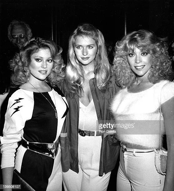 Actresses Judy Landers Donna Dixon and Audrey Landers attend Second Annual Awards Magazine Party on March 16 1981 at Rapisardi Restaurant in Los...
