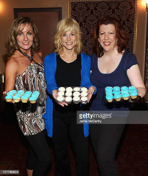 Actresses Judy McLaneLisa Brescia and Jennifer Perry attend the celebration for the 4000th Broadway performance of Mamma Mia at the Winter Garden...