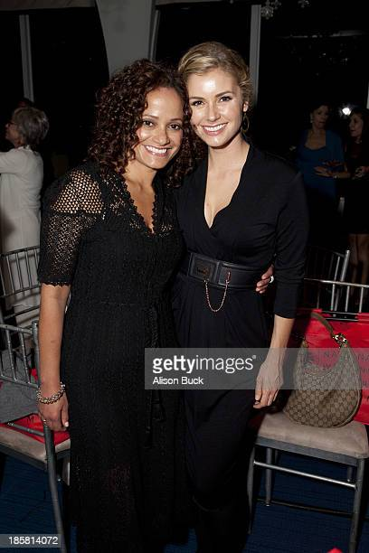 Actresses Judy Reyes and Brianna Brown attend Mr C Beverly Hills on October 24 2013 in Beverly Hills California