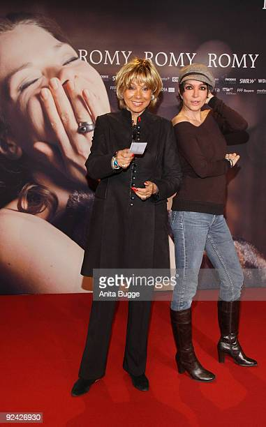 Actresses Judy Winter and Anouschka Renzi attend the premiere of 'Romy' at the Delphi cinema on October 27 2009 in Berlin Germany
