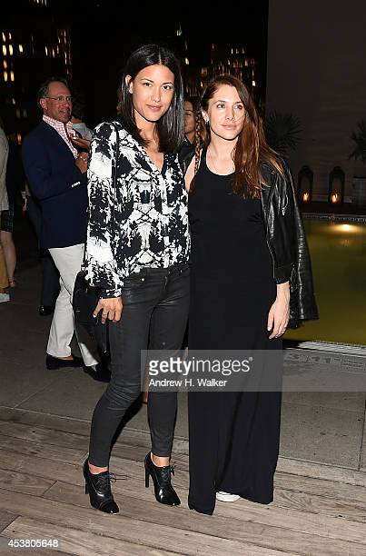 Actresses Julia Jones and Casey LaBow attend the Sony Pictures Classics with The Cinema Society Grey Goose screening of 'Love is Strange' after party...