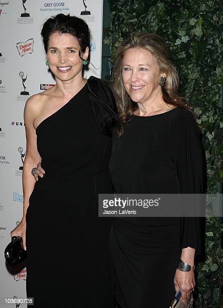 Actresses Julia Ormond and Catherine O'Hara attend the 62nd primetime Emmy Awards performers nominee reception at Pacific Design Center on August 27,...