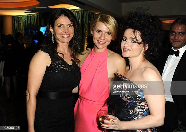 Actresses Julia Ormond Claire Danes and Helena Bonham Carter attend HBO's 68th Annual Golden Globe Awards Official After Party held at The Beverly...